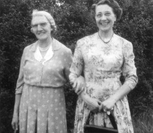 Edna with her mother Lydia Harris.